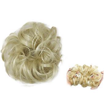 Scrunchie synteettiset hiukset - Vaalea blondi