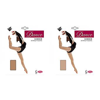 Silky Girls Dance Shimmer Stirrup Tights (1 Pair)