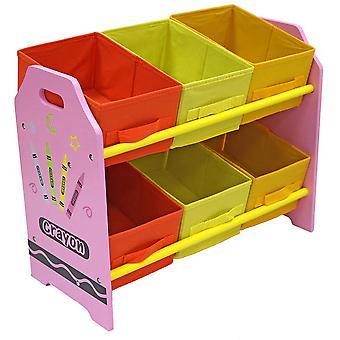 Kiddi Style Crayon 6 Box Storage Unit
