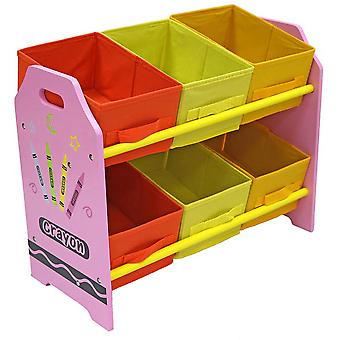 Kiddi Style Crayon 6 Boîte Unité de stockage