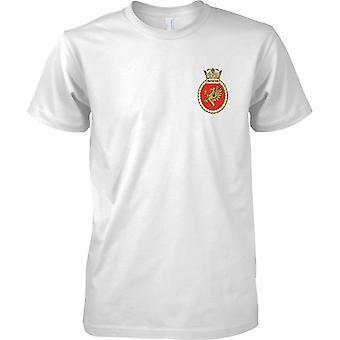 HMS Protector - aktuelle königliche Marineschiff T-Shirt Farbe