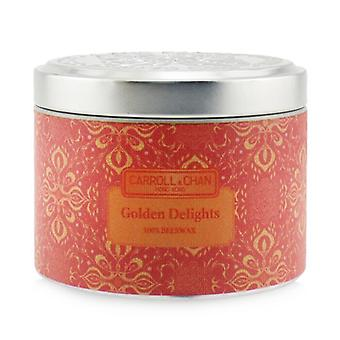 Carroll & Chan 100% Beeswax Tin Candle - Golden Delights (8x6) cm
