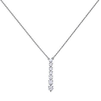 Diamonfire N4234 Silver Multi-Stone Drop Necklace