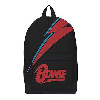 David Bowie Backpack Lightning Flash Logo new Official Rocksax Black