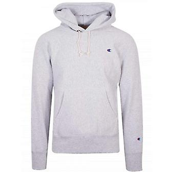 Champion Reverse Weave Grey Melange Hooded Sweatshirt
