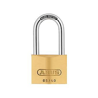 ABUS 65/40mm Brass Padlock 40mm Long Shackle Carded ABU6540LS40C