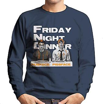 Friday Night Dinner Pusface And Pissface Men's Sweatshirt