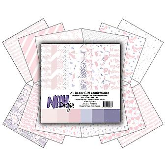 NHH Design All in One Girl Konfirmation 6x6 Inch Paper Pack