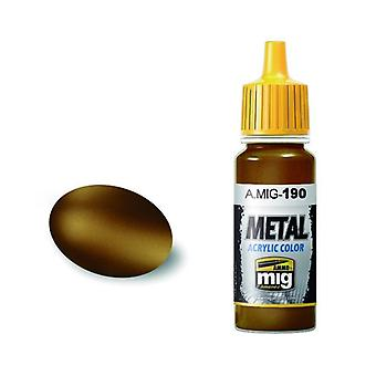 Ammo by Mig Acrylic Metallic Paint - A.MIG-0190 Old Brass (17ml)