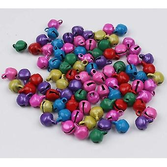 Mini Multicolor Bell, Christmas Jingle Bells Loose Beads - Diy Handmade Bell
