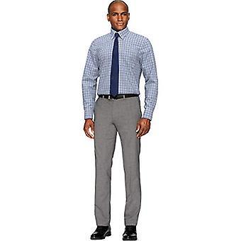 BUTTONED DOWN Men's Classic Fit Button Collar Pattern Non-Iron Dress Shirt, B...