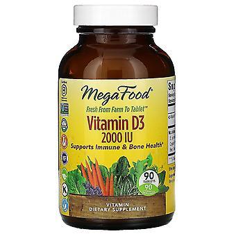 MegaFood, Vitamin D3, 2000 IU, 90 Tablets