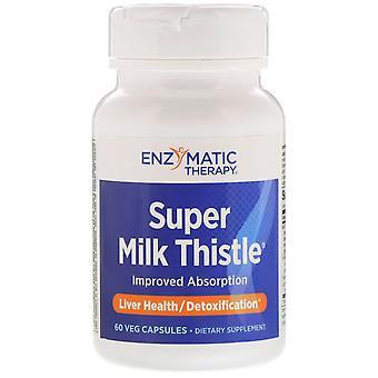 Enzymatic Therapy, Super Milk Thistle, 60 Veg Capsules