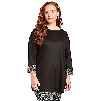 Rösch 1204626-11741 Women's Curve Jet Black Loungewear Top