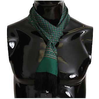 Dolce & Gabbana Verde Baroc Tassel Mens Silk Scarf MS5134