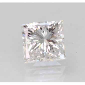 Sertifioitu 0,98 karat D VVS2 Princess Enhanced Natural Loose Diamond 5.28x5.05mm
