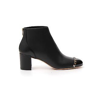 Salvatore Ferragamo 01p057704006 Women's Black Leather Ankle Boots