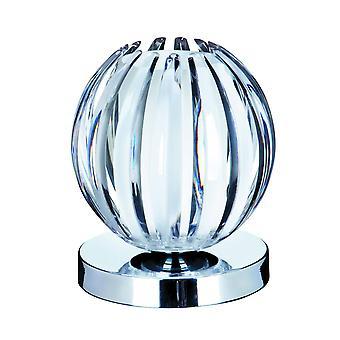 Searchlight Claw - 1 lys bord touch globe lampe krom, med klar akryl og frostet glass, G9