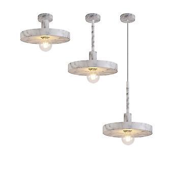 Luminosa Lighting - Wisiorek kopuły sufitowej, regulowany E27, efekt marmuru