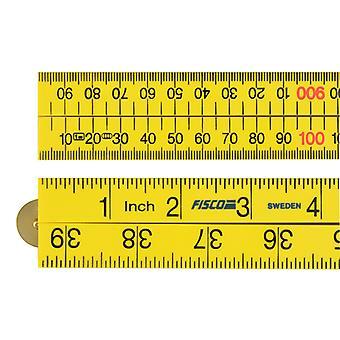 Fisco Yellow ABS Nylon Rule 1m / 39in FSCXFY1ME
