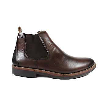 Rieker 35382-25 Brown Leather Mens Chelsea Boots