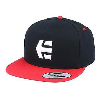 Etnies-pictogram Snapback Zwart Rood