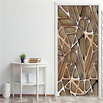 2pcs/set Géométrique, Self Stick, Stairs Pattern, Waterproof, Renovation Poster /