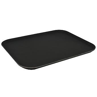 "Argon Tableware Black Non Slip Serving Tray - 35x45cm (14x18"") - Pack of 6"