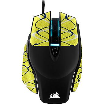 REYTID Durasoft Polymer Gaming Mouse Skin Grip Sticker Tape - PRE-CUT - Kompatibel med Corsair M65 Elite - Skridsikker, vandtæt og ultra-komfortable greb