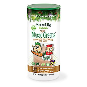 Macrolife Naturals Jr Coco Greens 30 Day Canister, 7 OZ