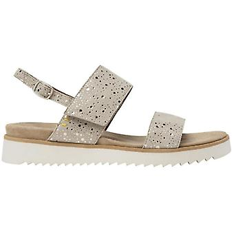 Benvado Lilly Beige Women's Sandal With Silver Drops