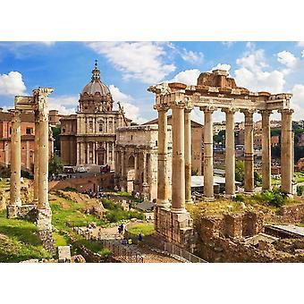Tapet väggmålning Roman Forum Rom