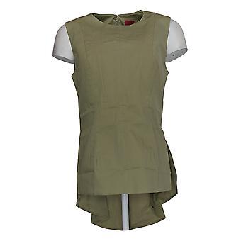 G.I.L.I. Got It Love It Women's Top Peplum Back W/Seam Detail Green A266069