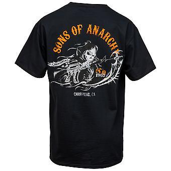 Zonen van Anarchy Opladen Reaper Back Print T-shirt