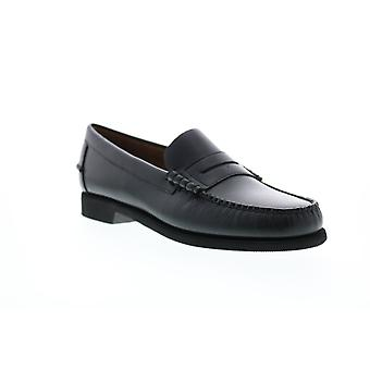 Sebago Dan Rice Polaris  Womens Black Leather Slip On Penny Loafers Shoes