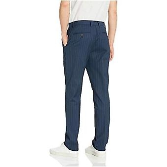 Goodthreads Men's Athletic-Fit Wrinkle Free Dress Chino Pant, Navy Pinstripe 42W x 36L