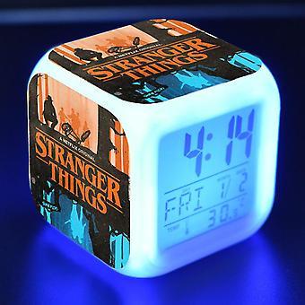 Красочный многофункциональный светодиодный детский будильник - Stranger Things 2 #16
