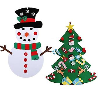 Vilt Kerstboom -kleuterschool Ambachten Sneeuwpop