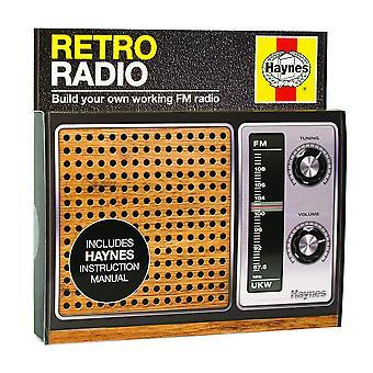 Haynes hrr1493 kit de construction radio rétro, noir