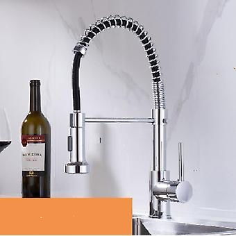 Spring Kitchen Sink Faucets, Brass Basin Mixer Tap