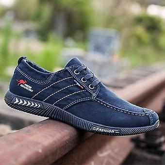 Män Canvas Flat Casual Casual bekväm ventilerande sko
