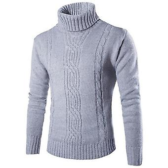 Miesten pusero Pullover, Slim Warm Solid, High Lapel Jacquard, Vaatteet Miesten
