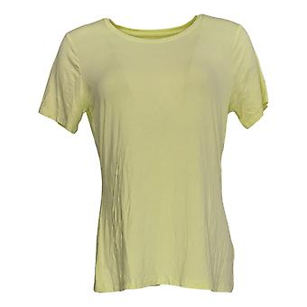 Apt. 9 Frauen's Top Essential Crewneck Tee Short Sleeves Yellow