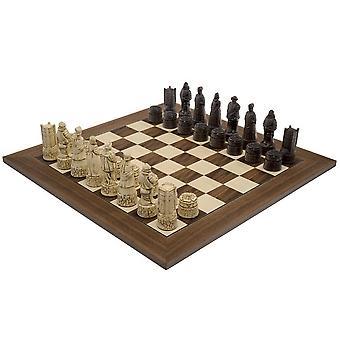 El ajedrez de Berkeley inglés Russet y nogal tablero de ajedrez