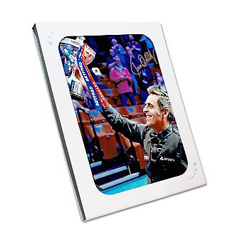 Ronnie O'Sullivan Signed Snooker Photo: Sixth World Snooker Title. In Gift Box
