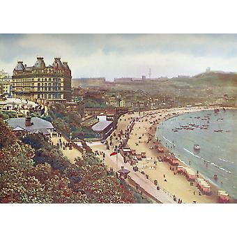 Scarborough North Yorkshire England In The 19Th Century From Picturesque History Of Yorkshire Published C1900 PosterPrint
