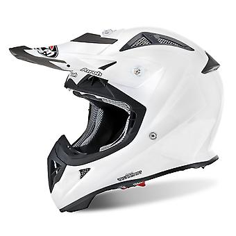 Airoh Aviator J Junior Motorcycle Helmet Remplacement Peak Color White PEAK ONLY