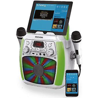 Máquina de Karaokê Bluetooth Branco Daewoo