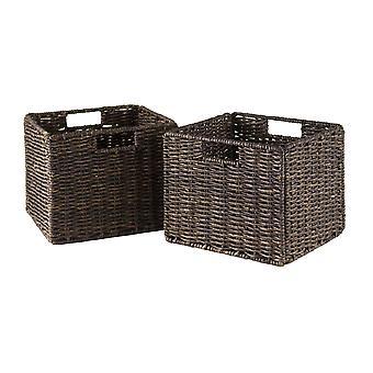 Granville pieghevole 2-pc piccoli cestini di buccia di mais, cioccolato
