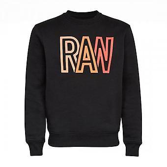 G-Star G- Star Raw Logo Print Crew Sweatshirt Black D19158